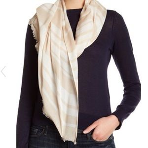 Stripe frayed trim Kate spade scarf